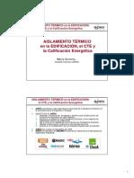 AIPEX Presentacion Aislamiento Termico Edificacio CTE y Calificacion Energetica