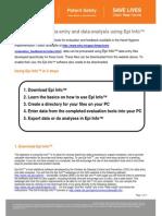 Epi Info Instructions