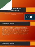 optum new hire orientation power point cur 516