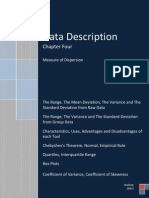 Data Description, Measure of Dispersion