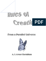 Rules of Creation - From a Parallel Universe