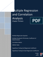 Multiple Regression  and Correlation  Analysis