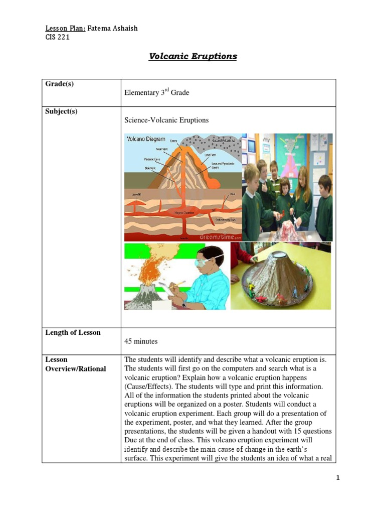 Lesson plan with rubric valcano experiment volcano types of lesson plan with rubric valcano experiment volcano types of volcanic eruptions ccuart Image collections