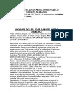 Códigos de Agesta. Jose Gabriel Uribe
