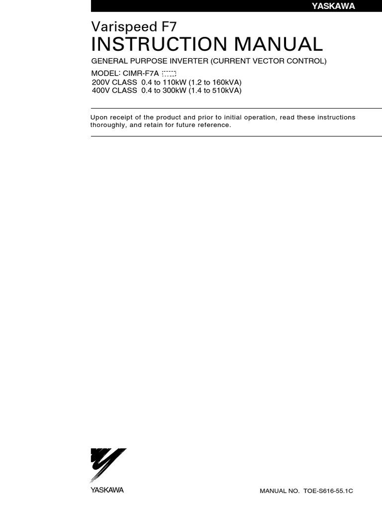 Yaskawa F7 Wiring Diagram 25 Images 1509908620 Varispeed Manual Pdf Power Supply Inverter At Highcare