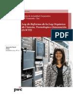 Boletín Actualidad Corporativa N ° 21- Reforma de La Ley Orgánica de Ciencia, Tecnología e Innovación