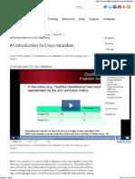 Cross Validation- Data mining