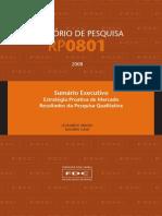 Relatório - Estratégia Proativa de Mercado - Pesquisa Quantitativa