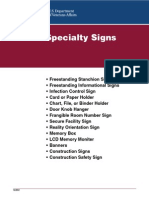 Specialty Signs in Hospital
