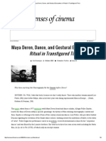» Maya Deren, Dance, And Gestural Encounters in Ritual in Transfigured Time