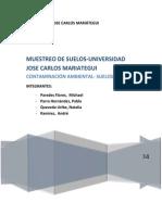 MUESTREO DE SUELOS