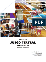 Taller Juego Teatral Preescolar 2013 Metodologia Aucouturier