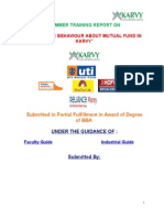 CONSUMER BEHAVIOUR ABOUT MUTUAL FUND IN KARVY.doc