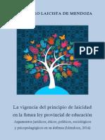 La vigencia del principio de laicidad en la futura ley provincial de educación