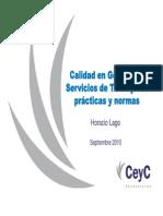 Calidad en Gestion de Servicios de TI
