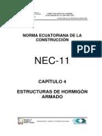 Nec2011 Cap.4 Estructuras de Hormigon Armado