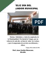 Feliz Día Del Trabajador Municipal
