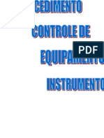 Controle de Instrumentos e Equipamentos de Medida