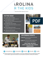 Carolina For the Kids December 2014 Newsletter