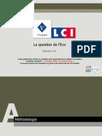 La question de l'Eco/Opinionway pour Tilder-lCI