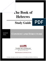 The Book of Hebrews - Lesson 2 - Study Guide