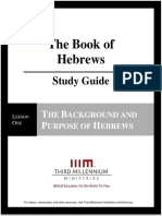 The Book of Hebrews - Lesson 1 - Study Guide