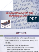 Occupational Safety and Health Legislation Unit 2