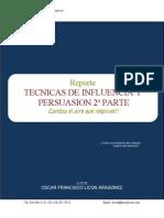 Reporte Tecnicas Influencia Persuacion 2p