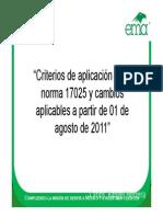 Crite. NMX 17025