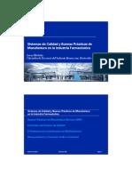 Sistemas de Calidad y BPM en La Industria Farmaceutica