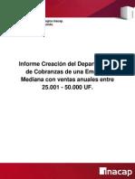 Informe Creación del Departamento de Cobranzas de una Empresa
