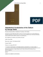 Alphabetical Vocabulary of the Clallum