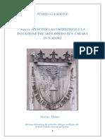 M. Gaglione Sulle Spese Per La Costruzione e La Dotazione Del Monastero Di s. Chiara in Napoli