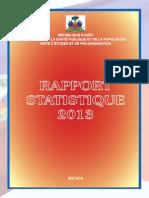 Rapport Statistique MSPP 2013