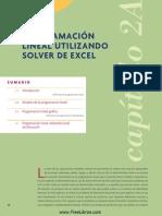 Programación Lineal Con Solver de Excel