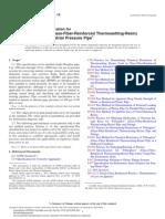 ASTM D3754 Tuberia de Fibra de VIdirio Para Sistemas Industriales y a Presión