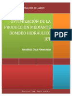 Bombeo Hidráulico Jet - Optimización de La Produccón