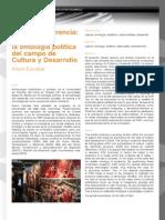 Cultura y política. Ontología política del campo de cultura y desarrollo