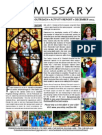 Franciscan Mission Outreach Emissary Update - Dec 2014