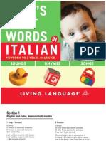 Babys First Words Italian