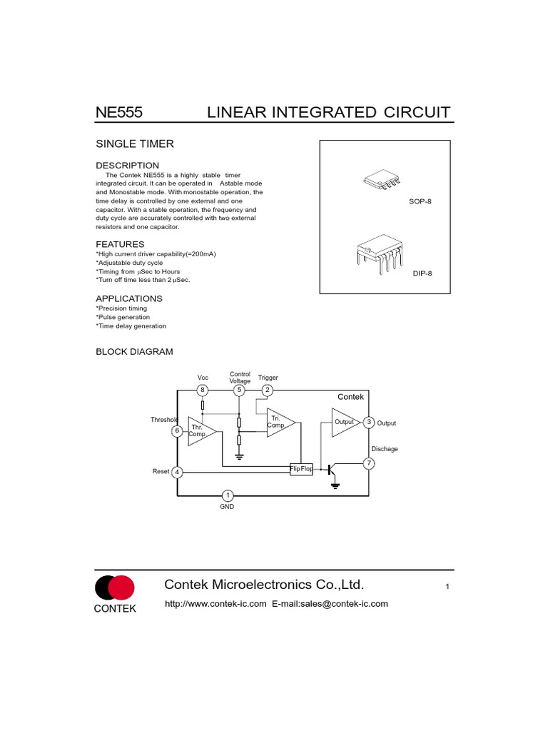 Ne555 Electrical Engineering Electronic 555 Timer Circuit With Variable On Off Times Schematic