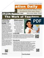 newspaper the work of teachers