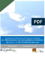 Maquinaria para Agricultura de Montaña. EL PDR DE LA CA DE EUSKADI 2014 2020