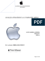 Analiza Strategica - Apple SAVIN