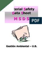 3.4 MSDS (Fichas de Seguridad)
