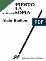 Manifiesto Por La Filosofia - Alain Badiou
