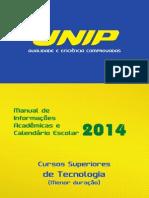 Calendário e Manual 2014 Tecnológicos