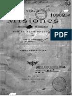 Ambrosetti, Juan Bautista. Viajes a Las Misiones Argentinas y Brasileras Por El Alto Uruguay