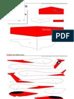 varios - ocio - recortable planeador rojo
