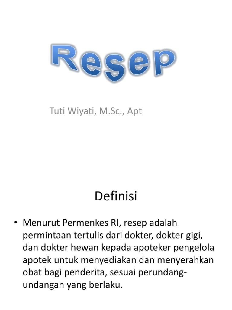 Resep Copy Resep Ppt